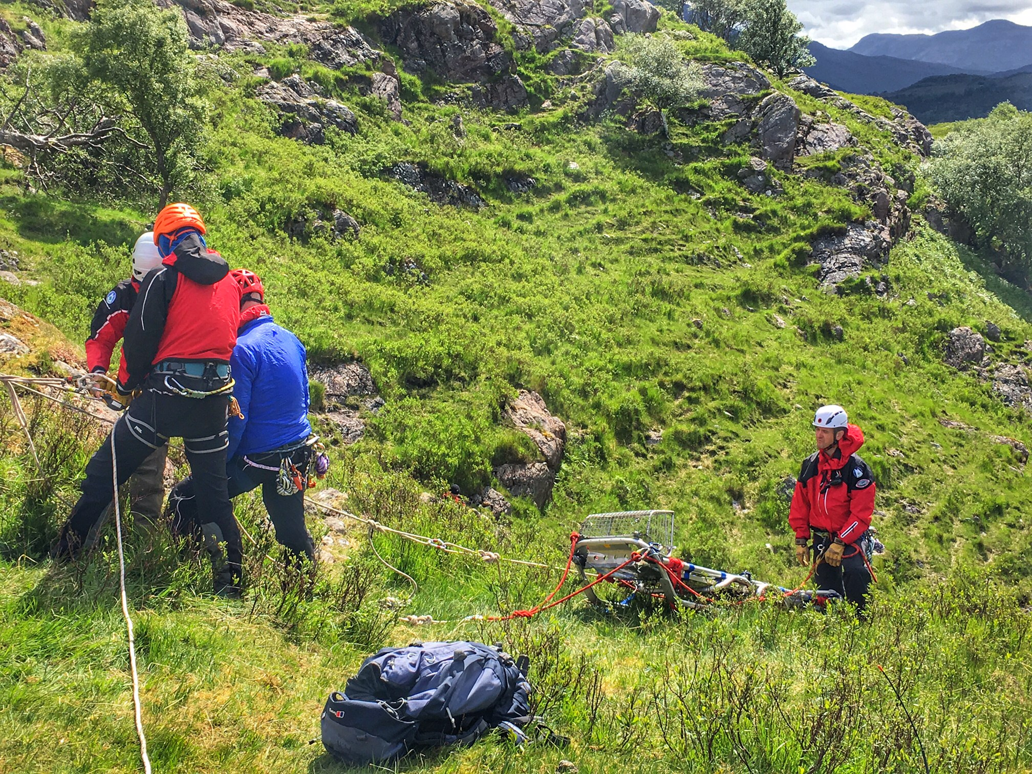 Training With The Torridon Mountain Rescue Team